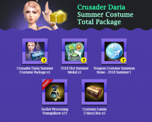 Crusader Daria Summer Costume Total Package